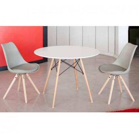 Conjunto mesa Vandyk + 4 sillas Ralf