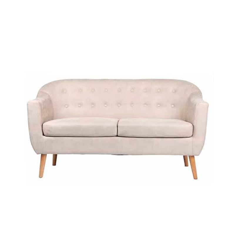 Sof de dos plazas zafiro tapizado en alcantara beige for Sofas de dos plazas