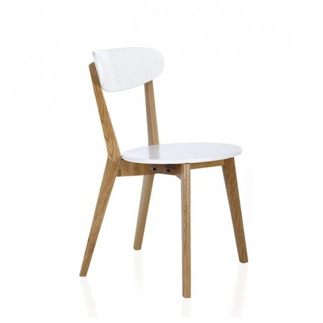 Silla nordica CH 900 color-Blanco-roble