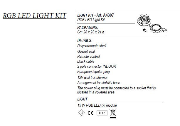 RGB LED LIGHT KIT A4307