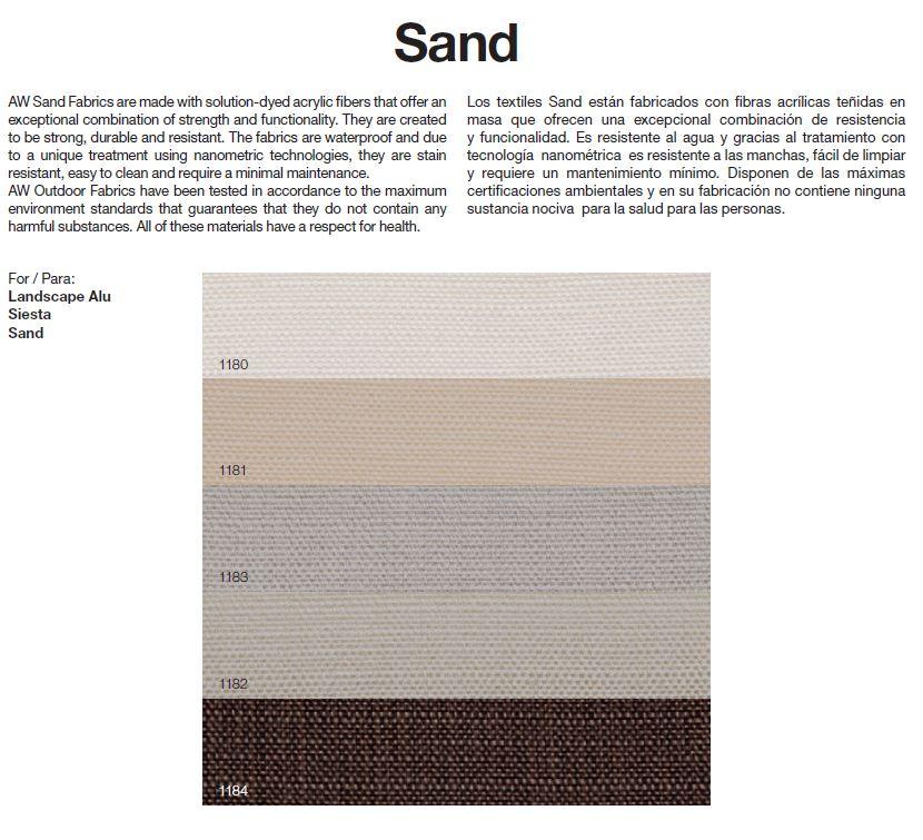 Tejido SAND para modelo Siesta de Andreu World