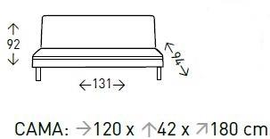 sofá cama nuevo curvo